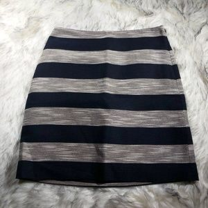 Ann Taylor LOFT | striped skirt